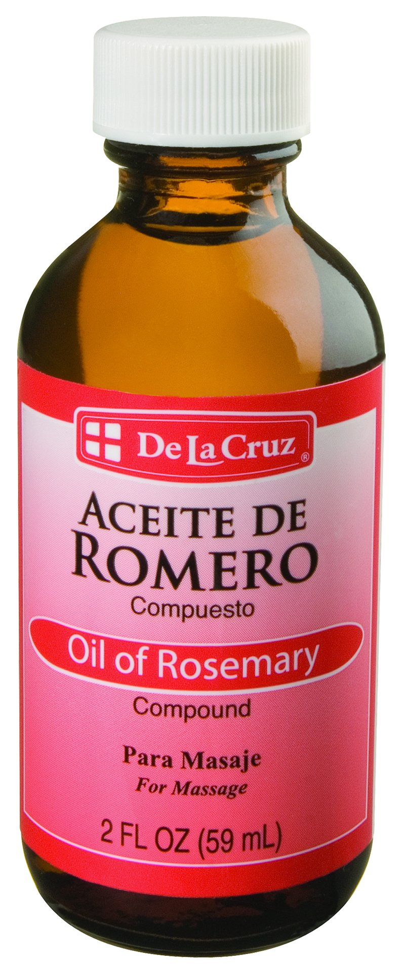 De La Cruz Oil of Rosemary Compound for Skin and Hair, No Preservatives, Artificial