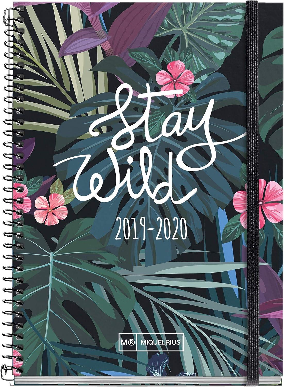 Miquelrius agenda escolar con espiral 2019 2020 semana vista shiny ...