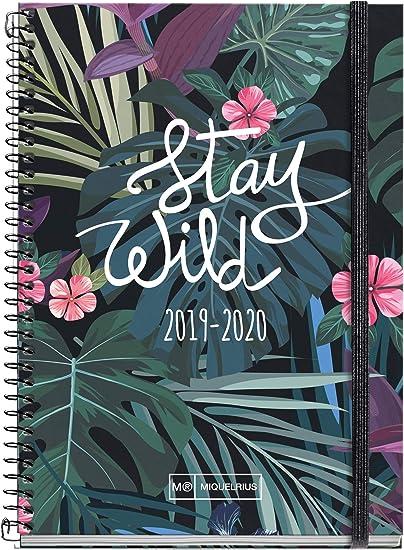 Miquelrius agenda escolar con espiral 19/20 día página stay wild ...