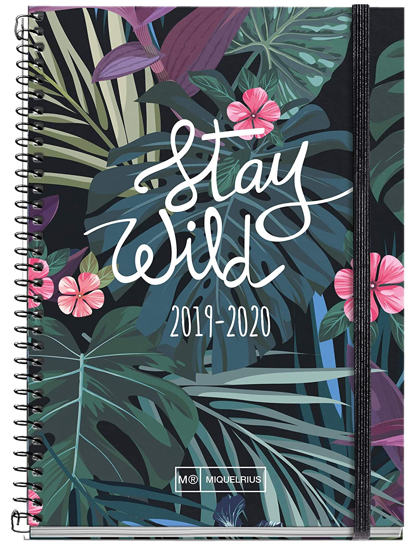 Miquelrius agenda escolar con espiral 2019 2020 semana vista Stay Wild Catalán 117x182 mm