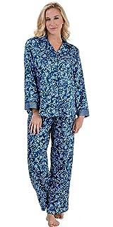 Miss Elaine Women s Brushed Back Satin Pajama at Amazon Women s ... 98fac5217