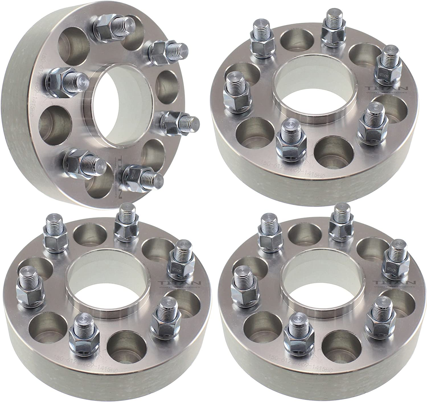 1.5/'/' Hubcentric Silver Wheel Spacers Adapters 6x135 Fits Ford F-150 6 Lug 4
