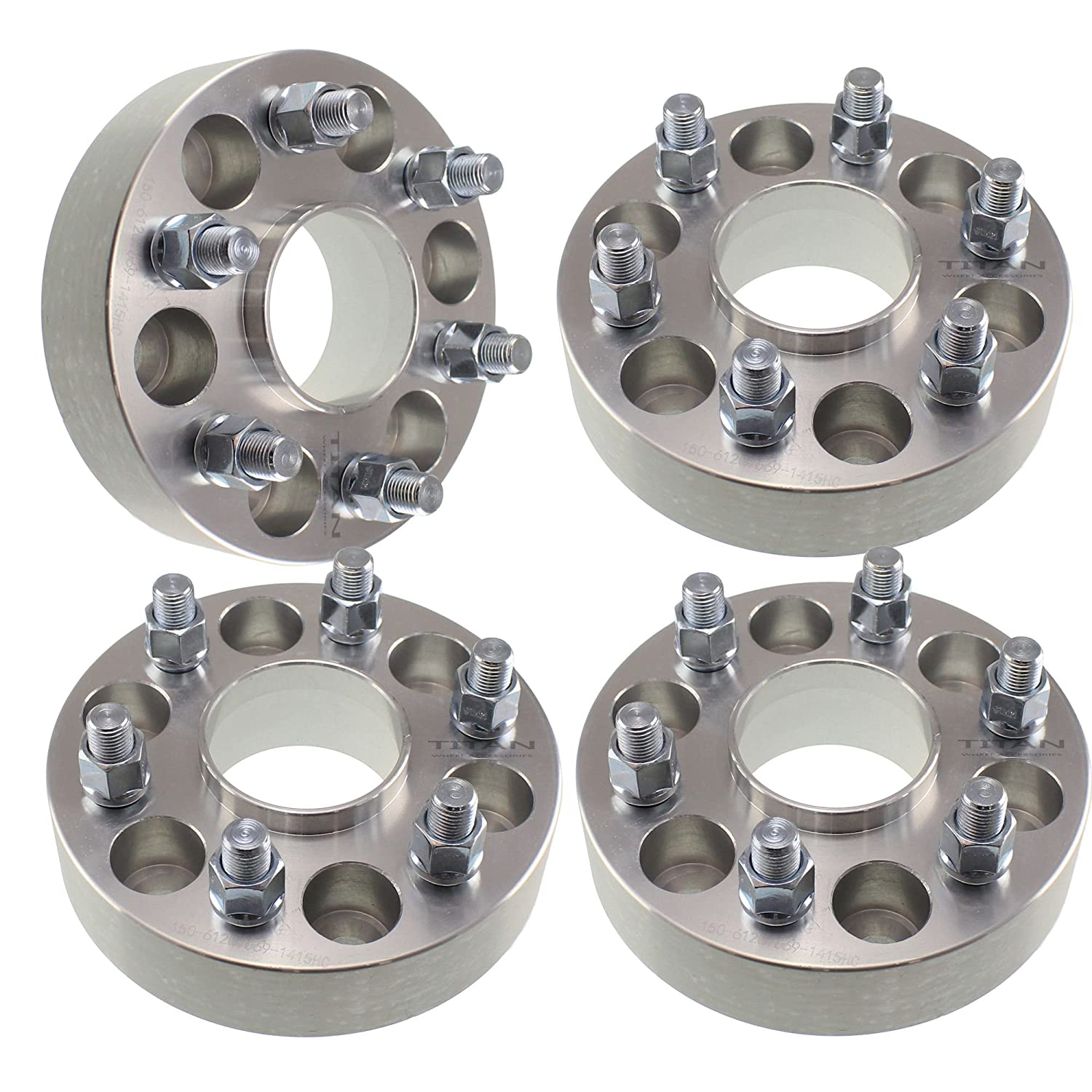 4pcs 2' Hubcentric 6x135 Wheel Spacers | 14x2 Studs | 87.1mm Hub Bore | Fits Ford Expedition F150 Lincoln Navigator Mark LT Adapters Titan Wheel Accessories