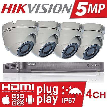 Hikvision DS-7204HUHI-K1 DS-2CE56H1T-ITM Sistema de cámaras ...