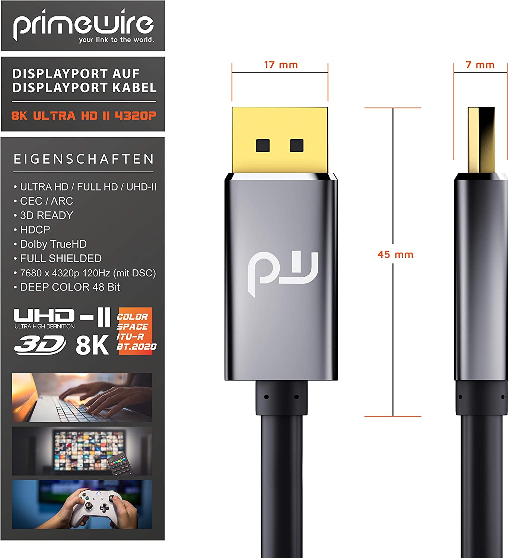 Csl 8k Displayport Cable 2m Displayport To Elektronik