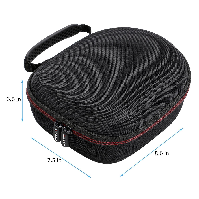 LTGEM Headphone Caso Travel Bag da Trasporto Archiviazione per Sennheiser HD 598,HD558,HD202 II,HD201,HD419,HD229,HD202,HD518,HD555 Headphone-Nero