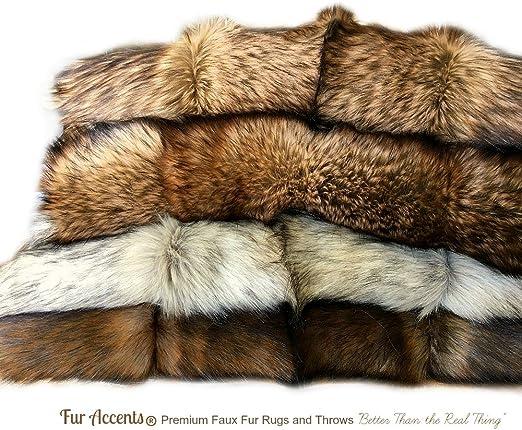 Super Luxury Faux Fur Fabric Material GREY DEER