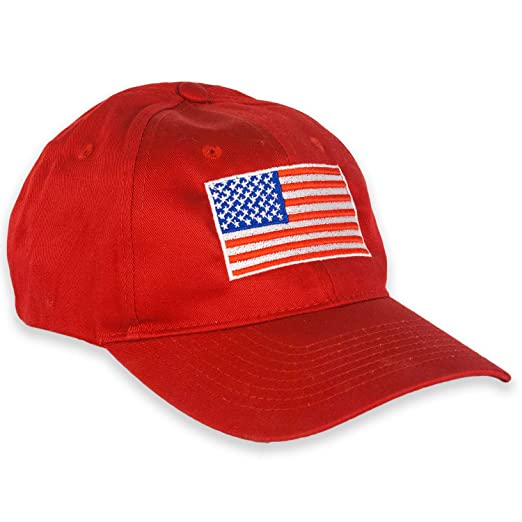 f2d7f49d08d American Flag Cap USA Twill Hat (Red) at Amazon Men s Clothing store