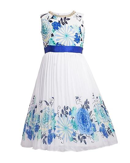 My Lil Princess_Tiara Blue Bow Dress Girls' Dresses & Jumpsuits at amazon