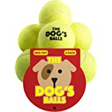 The Dog's Balls 6 Dog Tennis Balls, Premium, Strong Dog Ball, Dog Toy for Puppy Training, Play, Exercise & Fetch. Tough Balls for Chuckit Launchers. The King Kong of Dog Balls