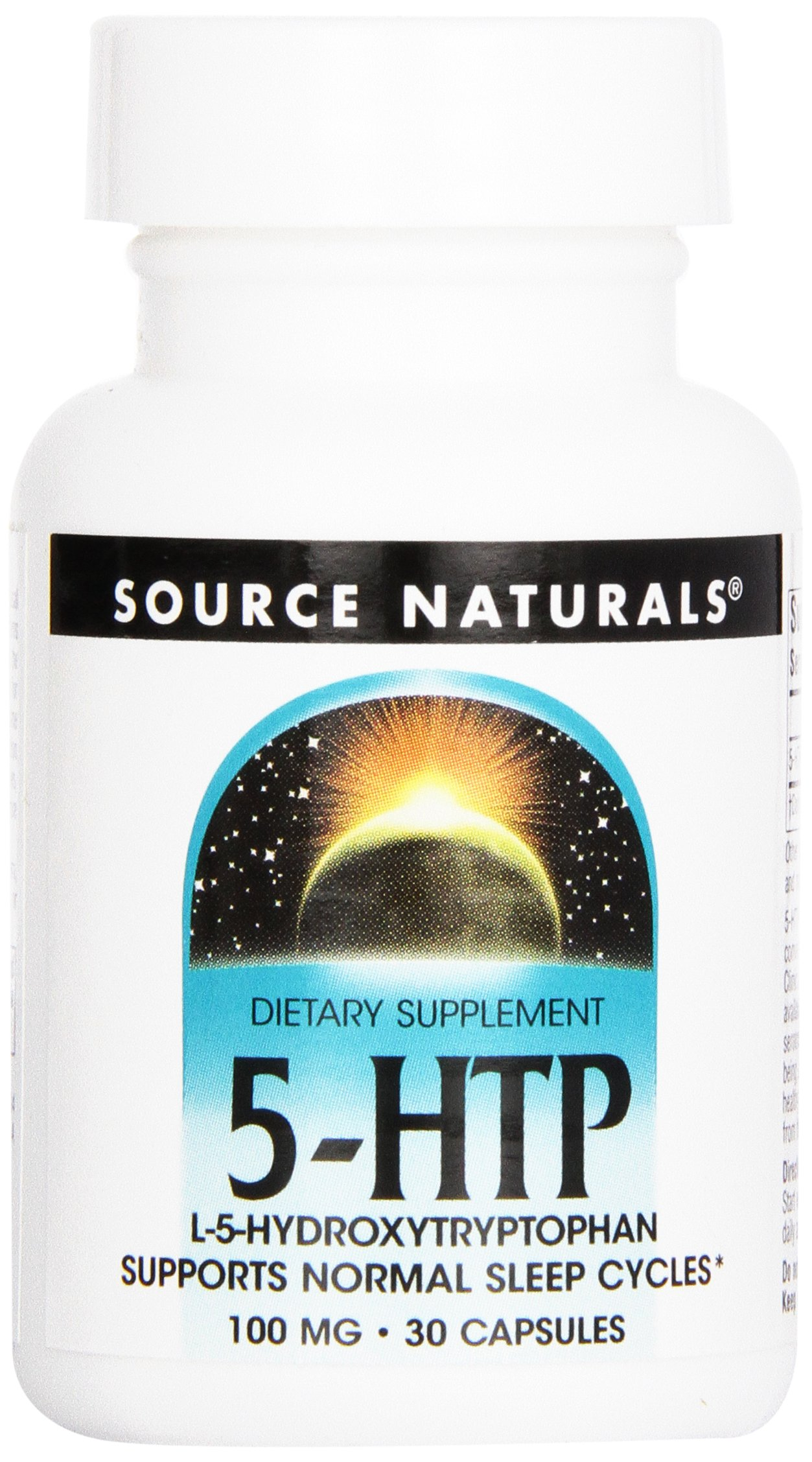Source Naturals 5-HTP, 100mg, 30 Capsules (Pack of 12)