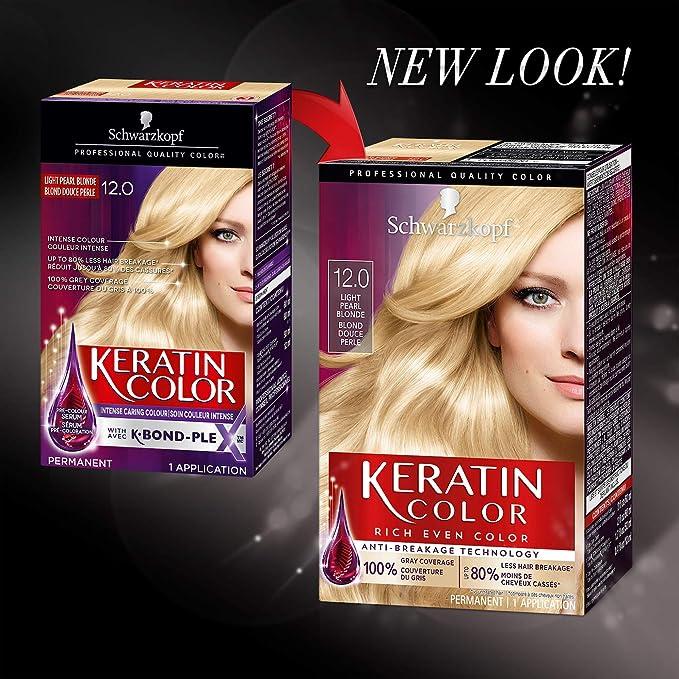 Schwarzkopf Keratin Hair Color, Light Pearl Blonde 12.0, 2.03 Ounce by Schwarzkopf
