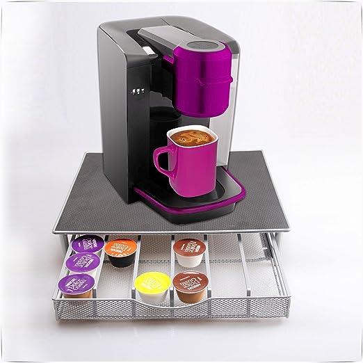 Safekom 36 Dolce Gusto máquina de soporte taza de café (vaina de almacenamiento de té y cajones de cocina Nespresso Cápsula soporte