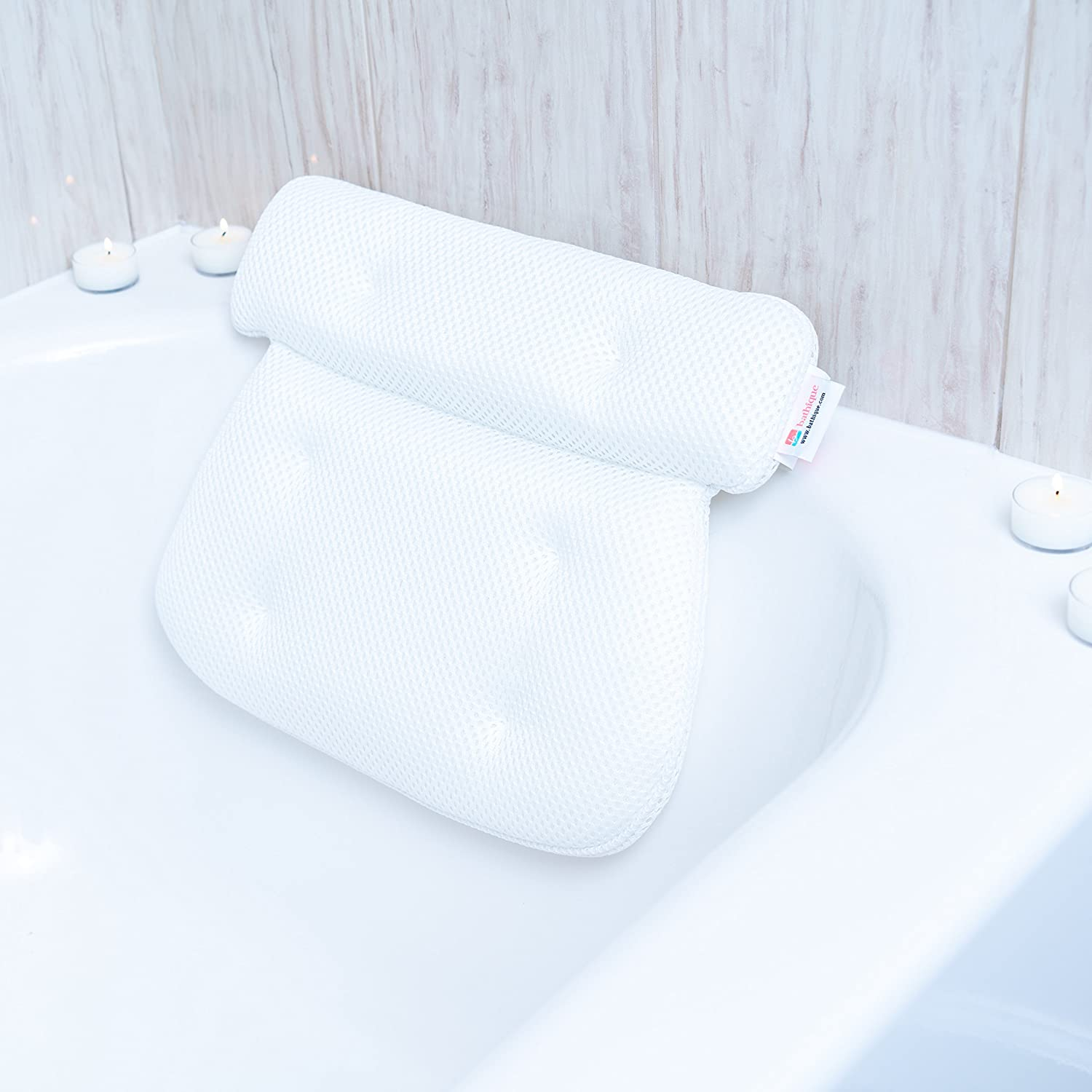 Large Bath Pillow Cushion with Non Slip Suction Cups - Perfect for ...