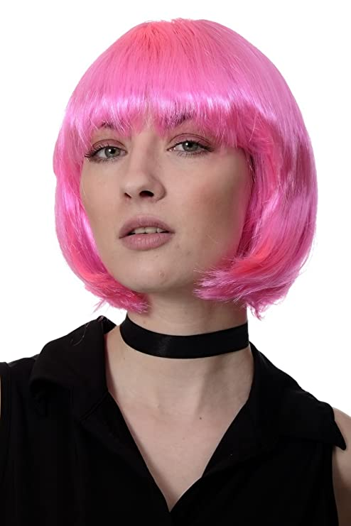 PW0114-PC5 - Peluca corte BOB, pink, Disco, GO GO girl