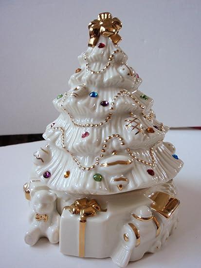 lenox jeweled christmas tree music box - Jeweled Christmas Trees
