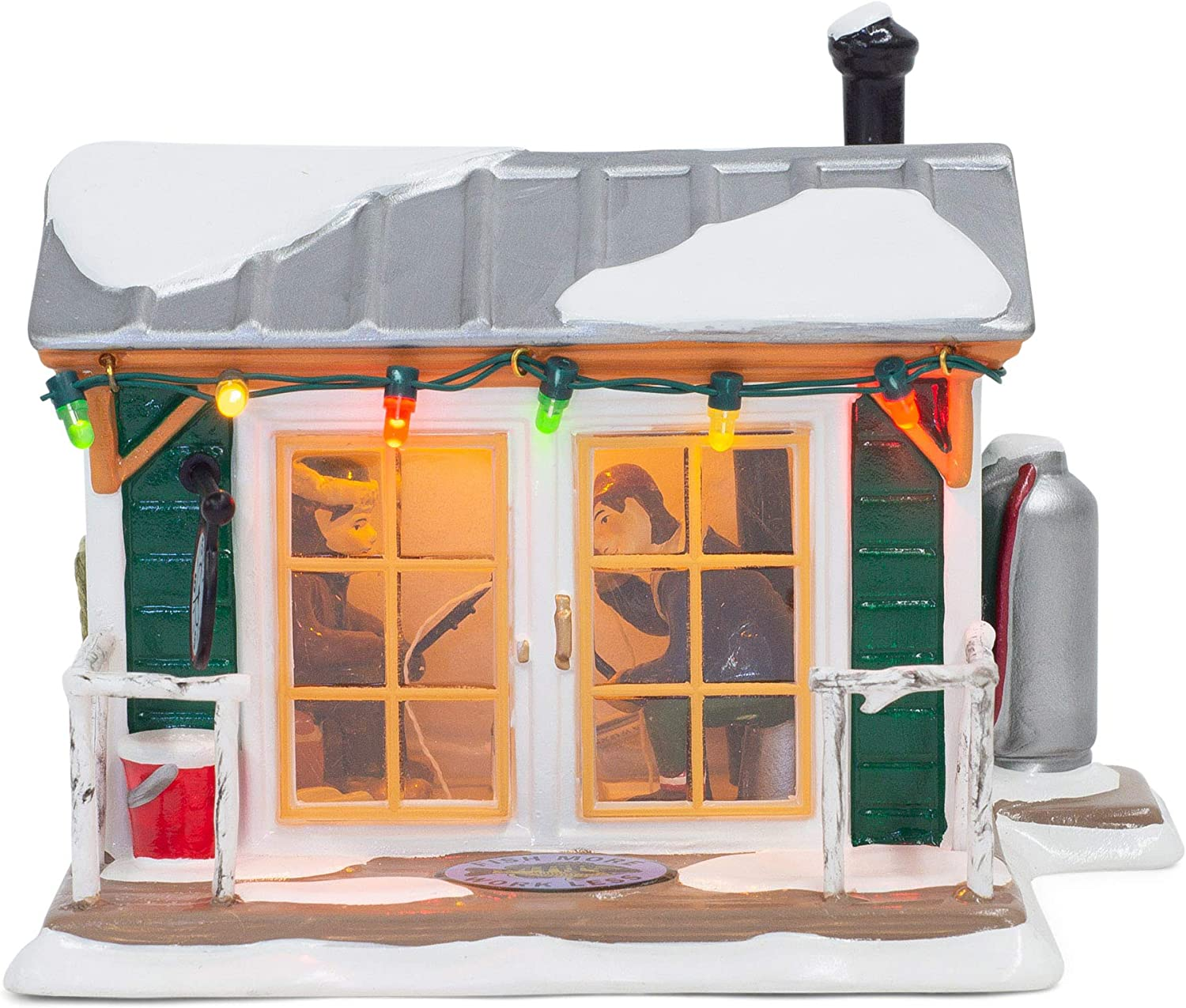 Department 56 Original Snow Village Home Sleet Home Fish Shack Lighted Building, 3.98-inch Height