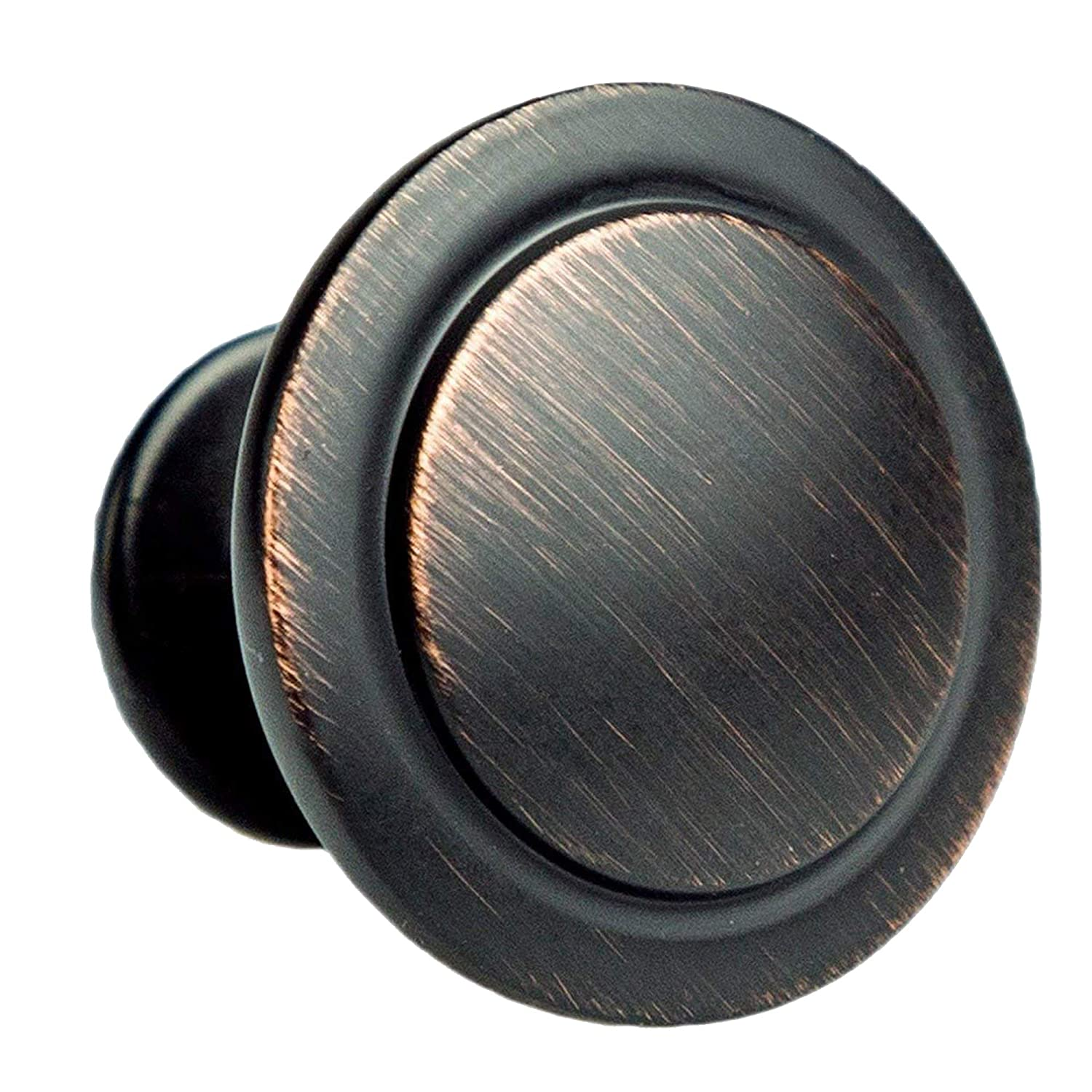 Oil Rubbed Bronze Kitchen Cabinet Knobs - 1 1/4 Inch Round Drawer Handles - 25 Pack of Kitchen Cabinet Hardware