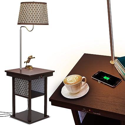 Amazon.com: Brightech Madison – Soporte de noche con lámpara ...