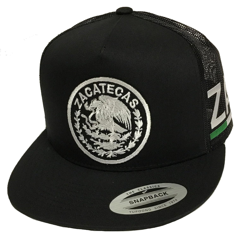 209a157316757 Zacatecas Logo Federal 2 Logos Hat Black Mesh Snapback at Amazon Men s  Clothing store