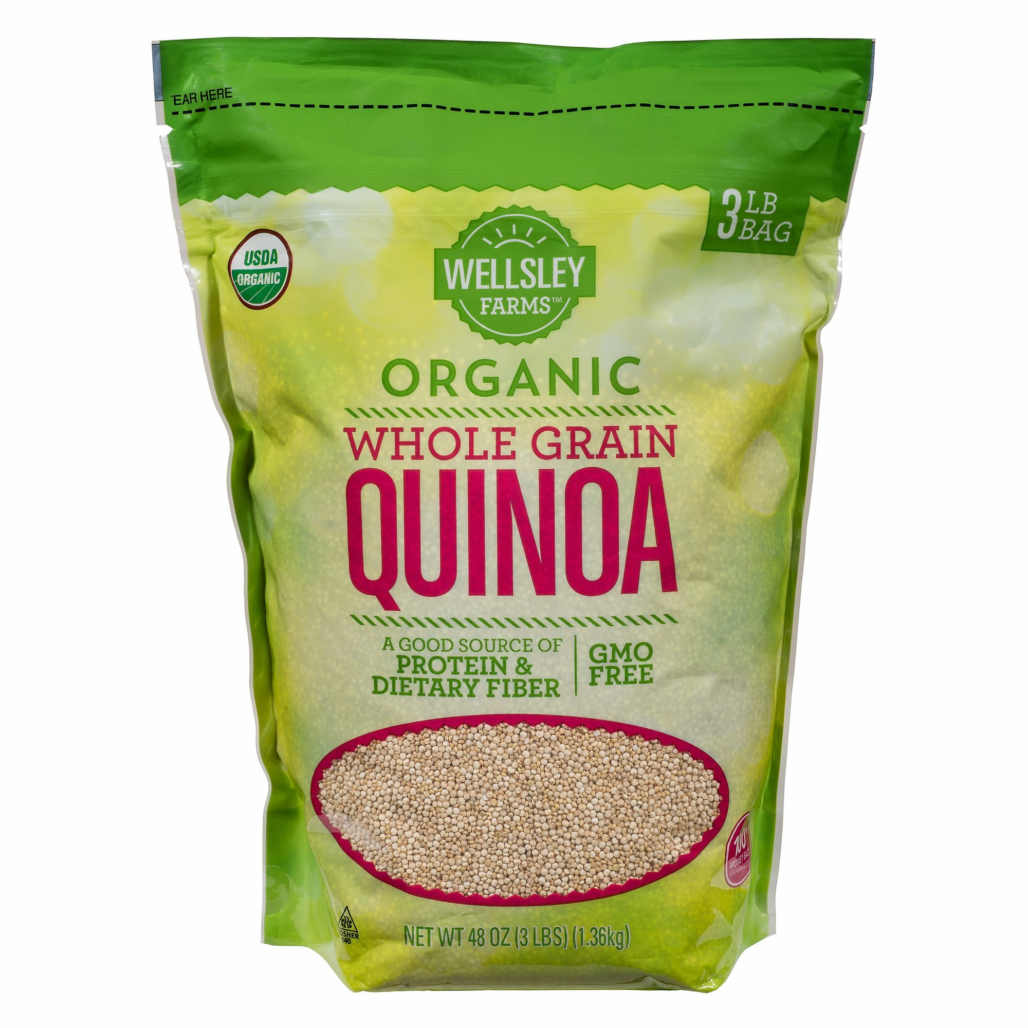 Wellsley Farms Organic Whole Grain Quinoa, 2 lbs. (pack of 2) by Wellsley Farms