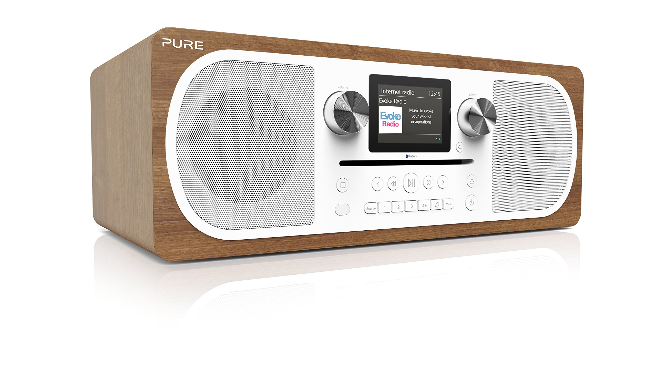 pure evoke c f6 stereo digital dab fm internet radio with. Black Bedroom Furniture Sets. Home Design Ideas
