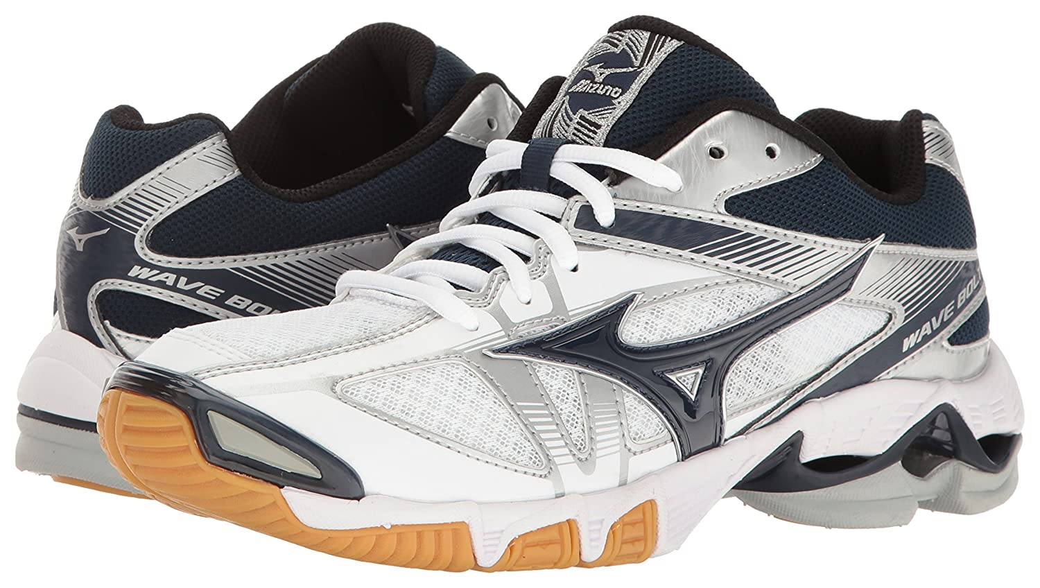 Mizuno Volleyball-Shoes Women's Wave Bolt 6 Volleyball-Shoes Mizuno B01N52JLXE 8 B(M) US|White/Navy 8acee5
