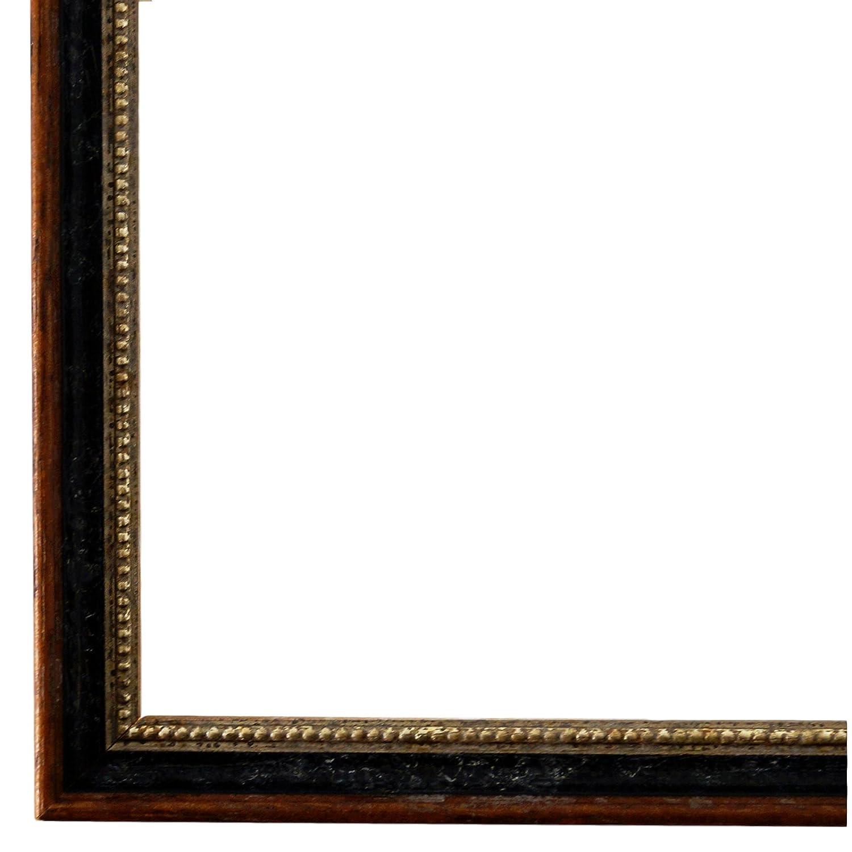 Bilderrahmen Schwarz Braun Silber 28 x 35 cm - Antik, Barock, Klassisch - Alle Größen - Handgefertigt - Galerie-Qualität - WRU - Empoli 1,5