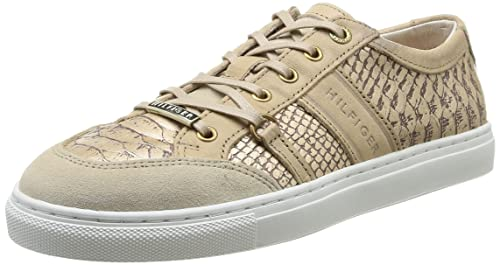 893bf3f984 Tommy Hilfiger Tina 2Z, Low-Top Sneaker Donna, Oro (Gold (Light Gold ...