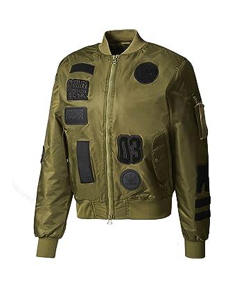 cfcfcf93d ADIDAS Men's Originals Logo Padded Bomber Jacket White Size L at ...