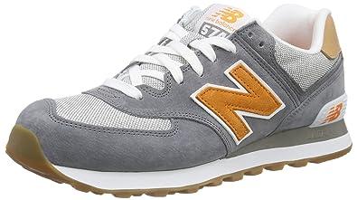 New Balance Men\u0027s ML574 Low-Top Sneakers, Blue (Blue/Orange),