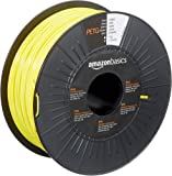 AmazonBasics PETG 3D Printer Filament, 1.75mm, Yellow, 1 kg Spool