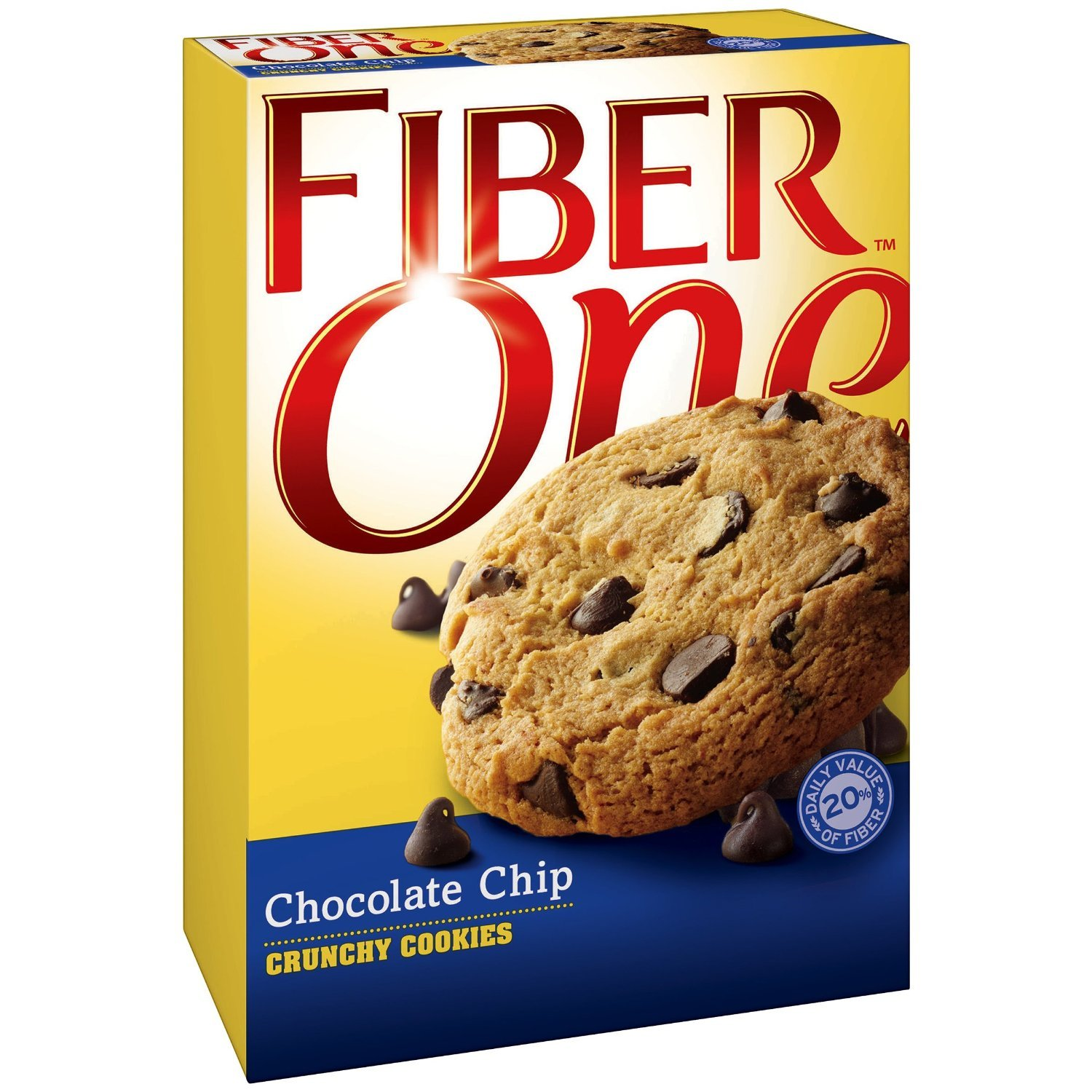 Fiber One NEW! Crunchy CHOCOLATE CHIP Cookies + FREE 19 oz Sports Beverage Bottle. 6 Cookies in Each Box (6 PACK). A total of 36 delicious cookies. You'll be one smart cookie!