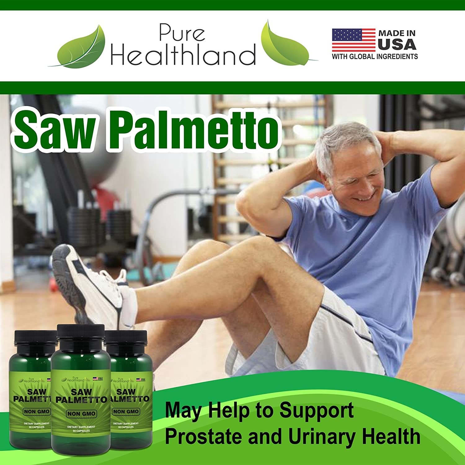 Amazon.com  Reduce Frequent Urination! Non-GMO Saw Palmetto Supplement  Capsules Support Men s Prostate Health - High Quality   Potency 500mg  Prostate ... 552b6b7b462