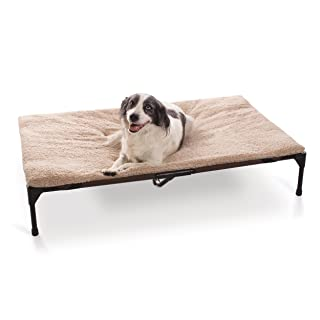 K&H Pet Products Elevated Pet Cot Pad, Machine Washable Microfleece (Pet Cot Not Included)