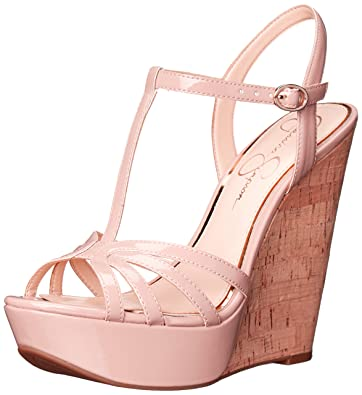 9f3f1fc314 Amazon.com | Jessica Simpson Women's BEVIN Wedge Sandal | Platforms ...