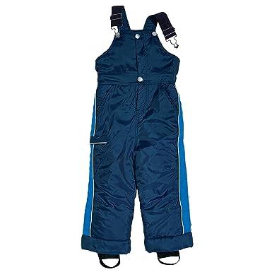 16bd5e47f804 Amazon.com  Little Boy Navy Blue Waterproof Thinsulate Snow Bib ...