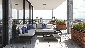 ARTELIA Valentino M - Juego de muebles de jardín de aluminio – Muebles de jardín de alta calidad para terraza, jardín y jardín de invierno, color antracita: Amazon.es: Jardín