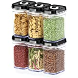 DWËLLZA KITCHEN Airtight Food Storage Containers with Lids – 6 Piece Set Air Tight Kitchen Storage Containers for Pantry Orga