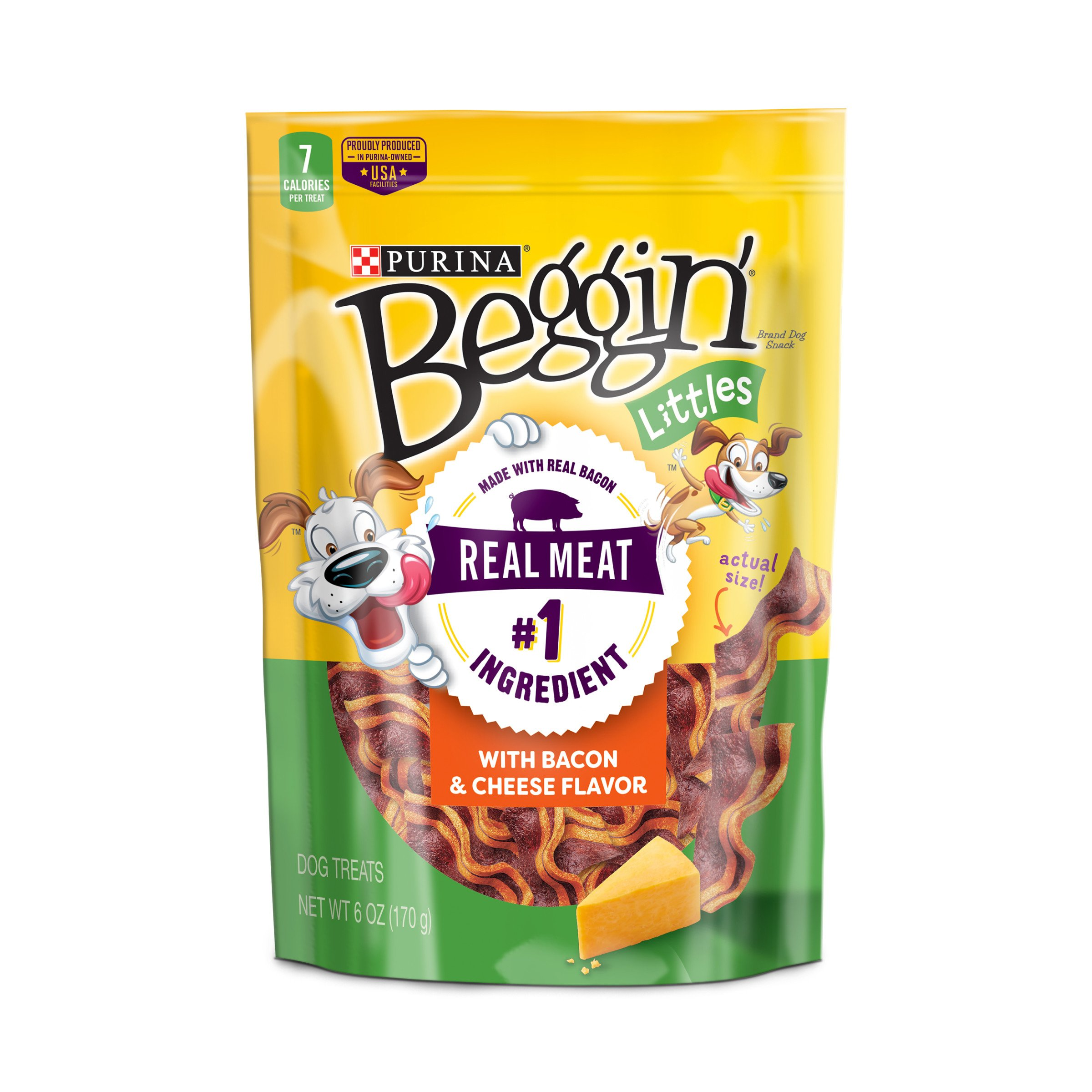 Purina Beggin' Bacon & Cheese Flavors Dog Snacks - (6) 6 oz. Pouch