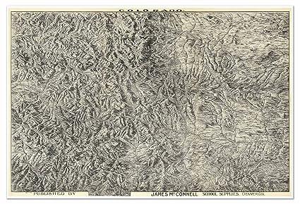 Amazon.com: MAP of COLORADO Rocky Mountains circa 1894 - measures 36 ...