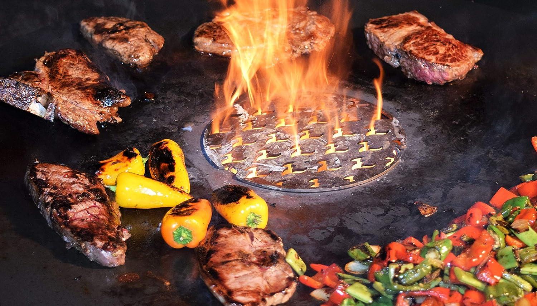 Feuerplatte 80 /& 100cm für Feuertonnen /& Kugelgrill Grillplatte Plancha BBQ