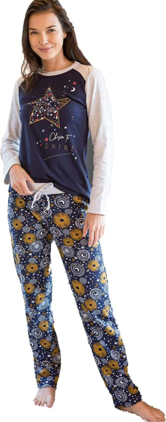 MASSANA - Pijama Mujer Invierno Elegida para Brillar