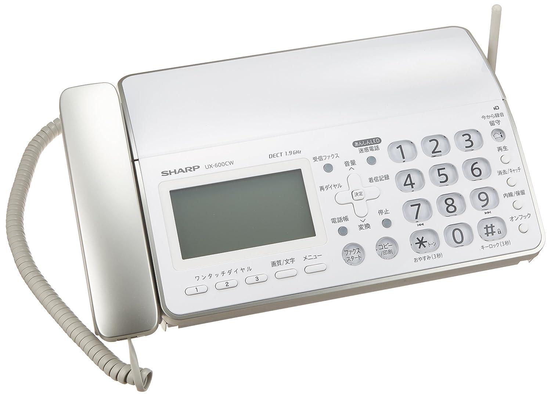 シャープ デジタルコードレスFAX 子機1台付き 1.9GHz DECT準拠方式 ホワイト系 UX-600CL-W B005SZXXH4 ホワイト|子機1台付き ホワイト