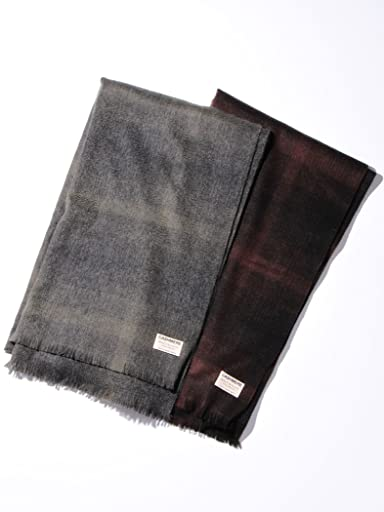 Cashmere Ombre Check Scarf 1436-699-1740: Grey, Black