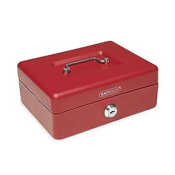 Rapesco money - Caja fuerte portátil de 20 cm de ancho con portamonedas interior, color
