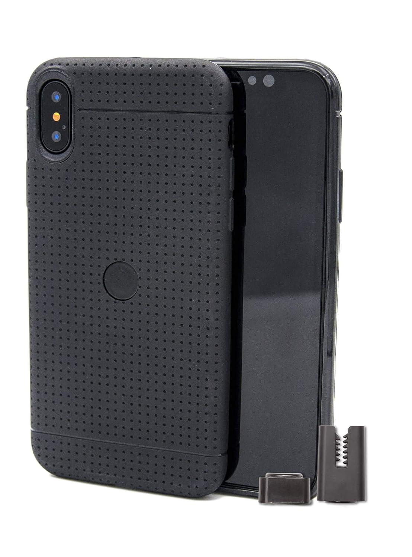 Funda con soporte magnético de coche para iPhone X