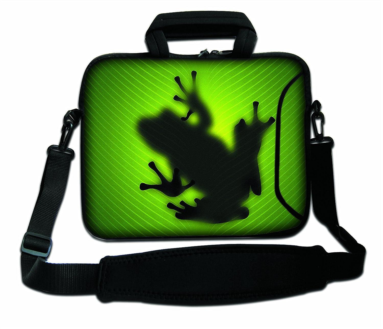 Sombra de la rana Funda con Bandolera en Neopreno para Ordenador Port/átil LUXBURG/® 12 Pulgadas Bolso de hombro con dise/ño