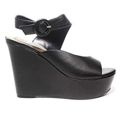bd8dbd2997 Guess Sandale Femme à l'article Haut compensé Noir FLGRM2 LEA03 Black  Nouvelle Collection Printemps