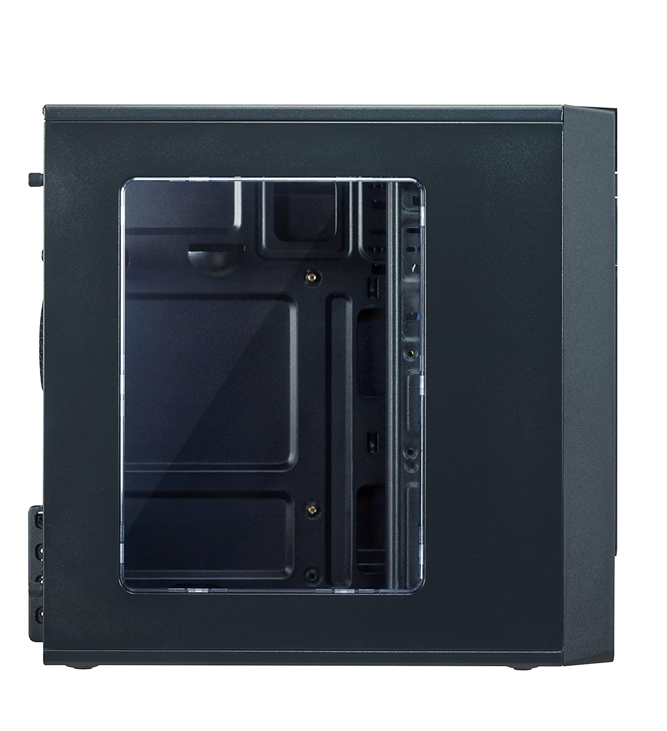 Steel and plastic computer case with 1x 120mm front fan and 1x 80mm rear fan 2x USB 2.0 and Audio ports ROSEWILL Micro ATX Mini Tower Computer Case FBM-05 Top I//O ports: 1x USB3.0
